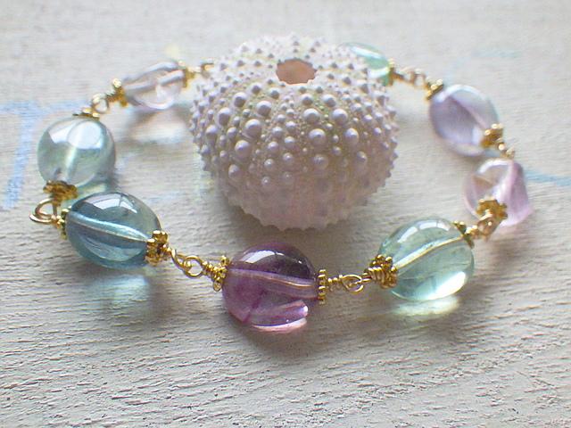 ??再販??  mermaid 's rainbow bracelet/フローライト