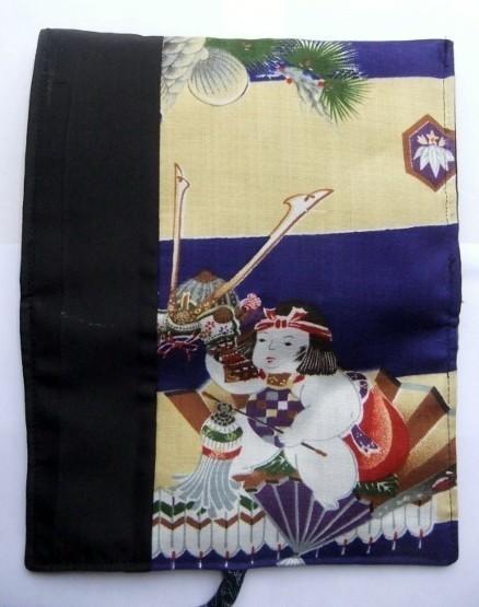 着物リメイク 男の子のお宮参り着で作った和風お財布 1607