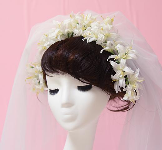 ホワイトネリネのヘッドパーツ