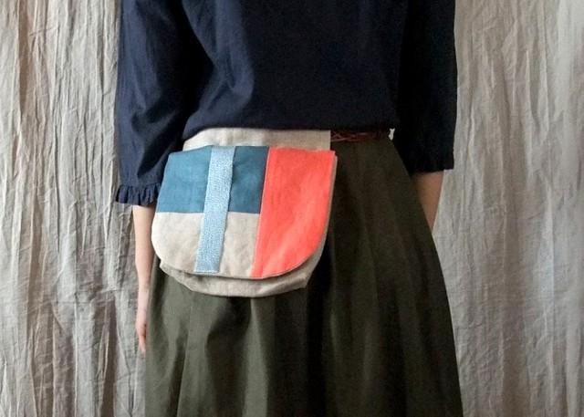 itoiro w-pouch (orange blue)