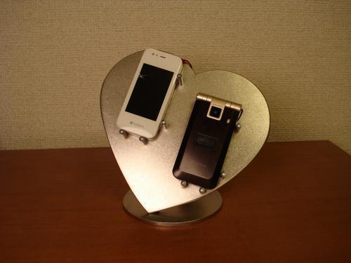 夫婦orカップルハート携帯電話スタンド