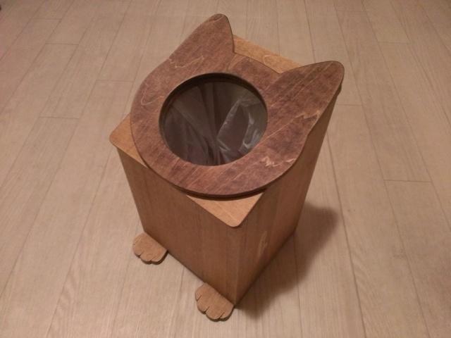 受注製作☆ネコのゴミ箱☆ダストボックス☆色指定可能です