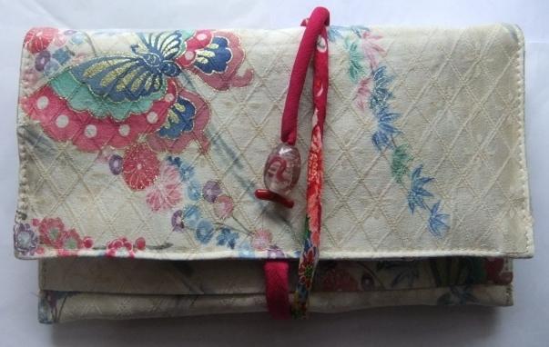 着物リメイク 訪問着で作った和風財布 1608