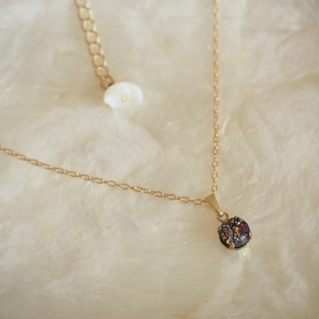 necklace #v-31 砂浜の星空