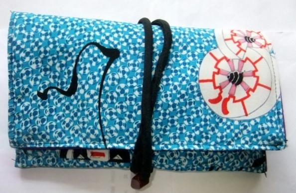 着物リメイク 踊り用の着物で作った和風お財布 1610