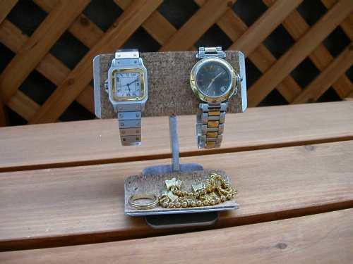 バー2本掛けデスク腕時計スタンド