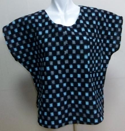 着物リメイク 絣の着物で作ったTシャツ 1611