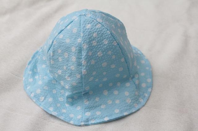 再販4☆子ども帽子 チューリップハット(水色)