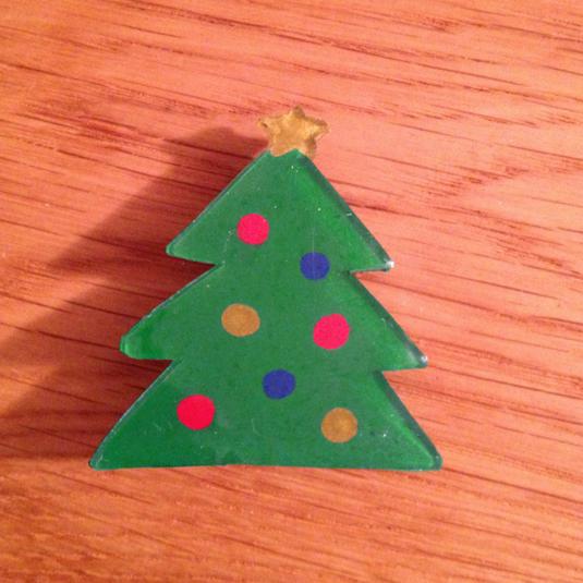 クリスマスツリーブローチ