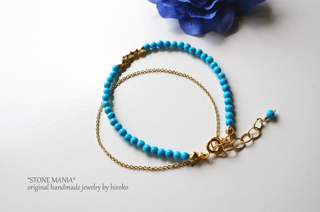?X'mas urban?Turquoise brecelet?天然石ターコイズのブレスレット 12月誕生石