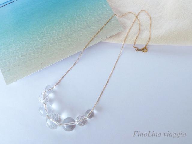 【Cebu】クリスタルの海の泡ネックレス