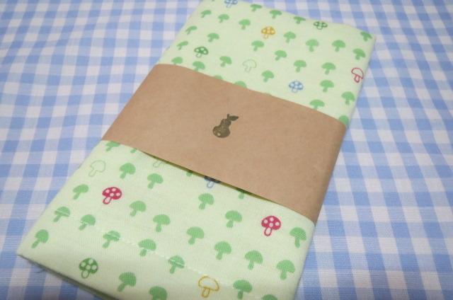 ダブルガーゼ きのこ布巾 グリーン