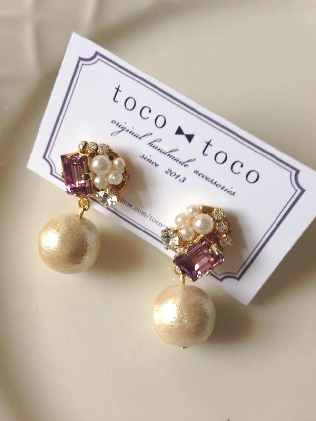 bijou & cotton pearl earring?