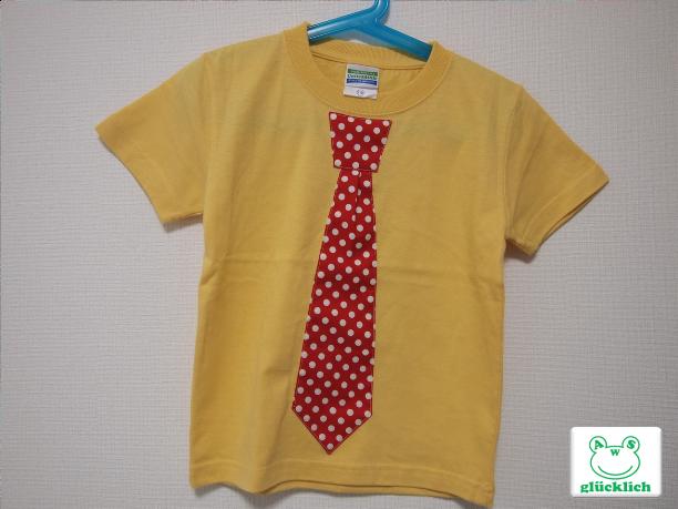 ネクタイTシャツ/110サイズ/イエロー