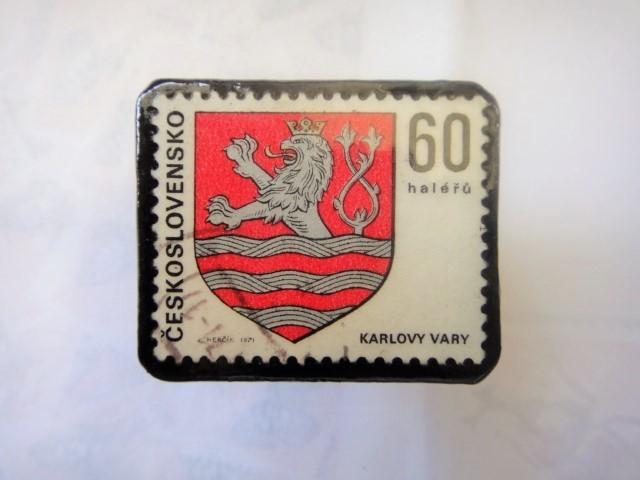チェコスロバキア 切手ブローチ1309