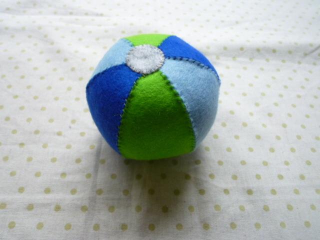 鈴入りボール(青系)