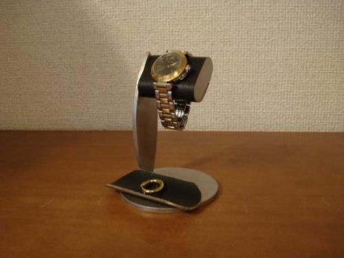ちょっと背が高いブラックコルク腕時計スタンド トレイ付き