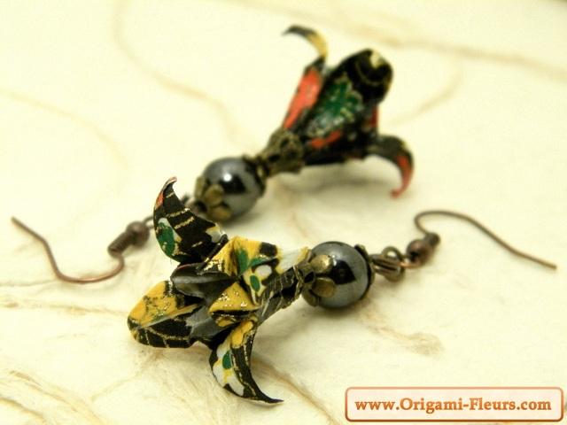 オリガミピアス華・菖蒲(Iris Y09BOI2CBr)