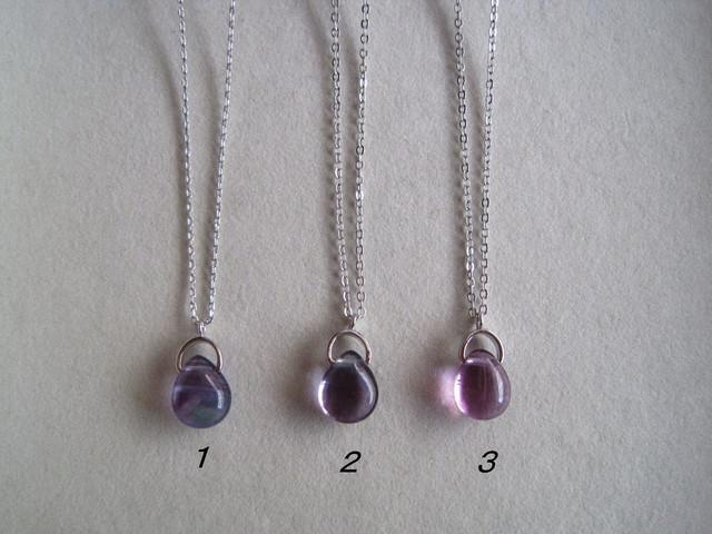 蛍石のシンプルネックレス