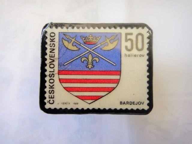 チェコスロバキア 切手ブローチ1314