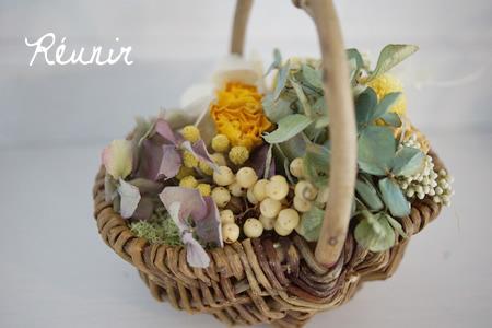 【sold out】Panier de fleurs:オロンジュ