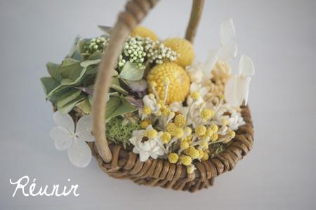 Panier de fleurs:ジョーンヌ