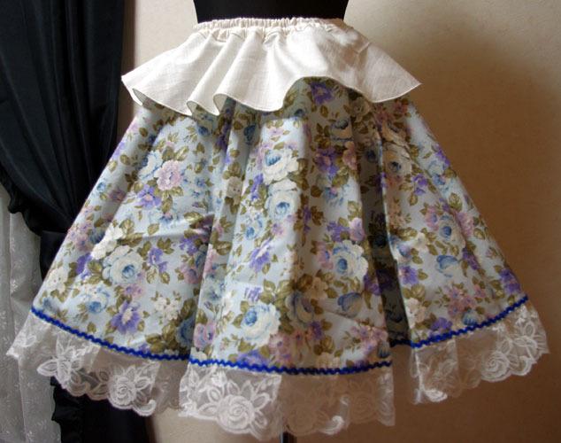 20%OFF 青薔薇のサーキュラースカート