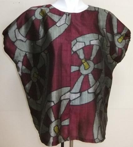 着物リメイク 銘仙の着物で作ったTシャツ 1621