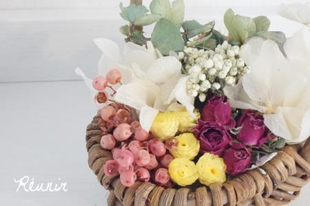 Panier de fleurs:イモーテル