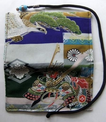 着物リメイク 男の子のお宮参り着で作った和風お財布 1523