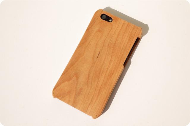 iPhone SE/5/5s ウッドケース チェリー