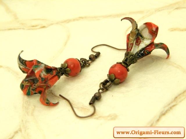 オリガミピアス華・菖蒲(Iris Y15BOI2CBr)