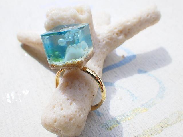 Ocean Cube  ピンキーリング