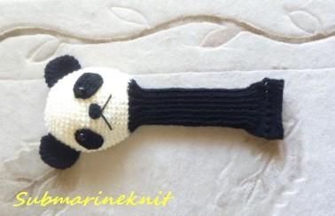 パンダのあみぐるみヘッドカバー