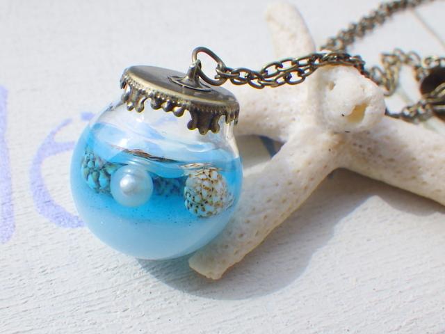 Ocean in the bottle  海のロングネックレス