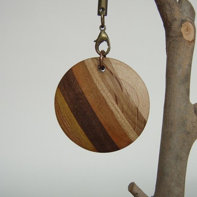 木のストラップ(ハイブリッド-Circle)