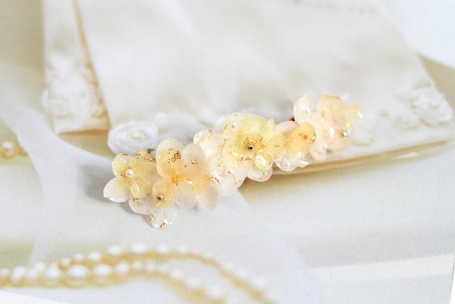 ナチュラル紫陽花のバレッタ