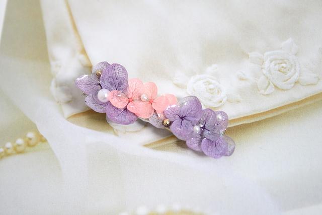 おとなチック紫陽花のヘアクリップ