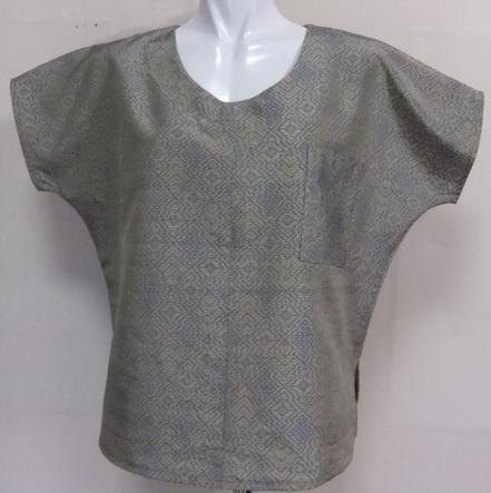 着物リメイク 色大島で作ったTシャツ 1630