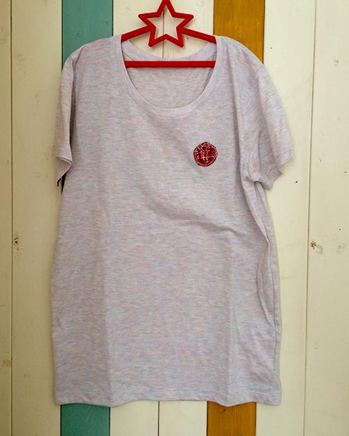 片胸バンダナスマイルTシャツ(レッド)