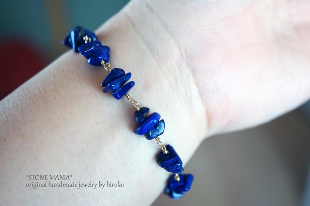 ?Blue space?Lapis lazuli brecelet?ラ...