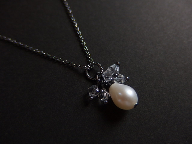 【silver925】アンティーク風パールペンダント