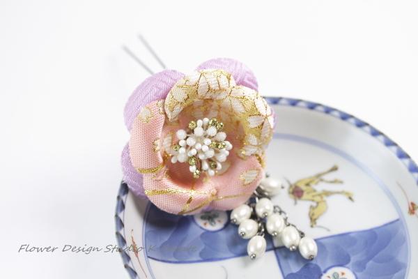 和柄のお花のかんざし:PAPK