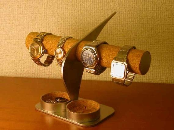 インテリア腕時計スタンド ダブル丸いトレイ