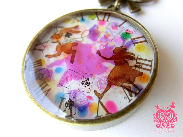 アリスのペンダント レインボードロップ(ピンク)