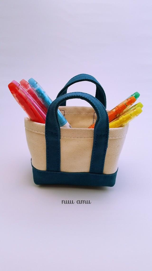 ミニミニトートバッグ 小物入れ blue