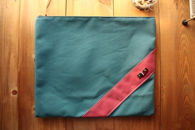 H951 帆布どでかポーチ LLサイズ -深海ブルー-