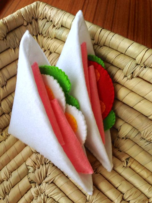 【送料無料】フェルトままごとサンドイッチ