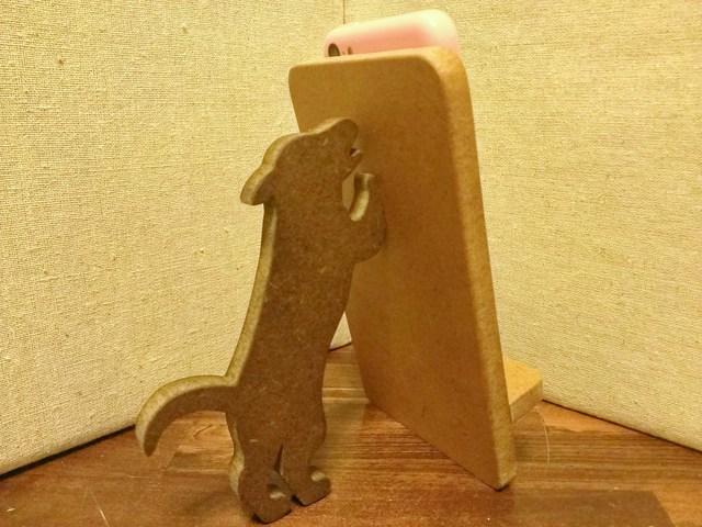 犬が支える携帯・スマホスタンド ナチュラル