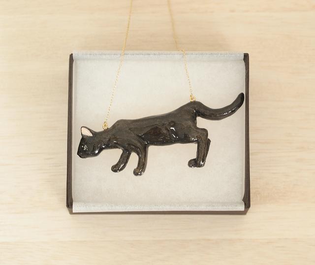 そろーりにゃんこのネックレス(黒猫)